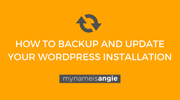How to Backup and Update WordPress