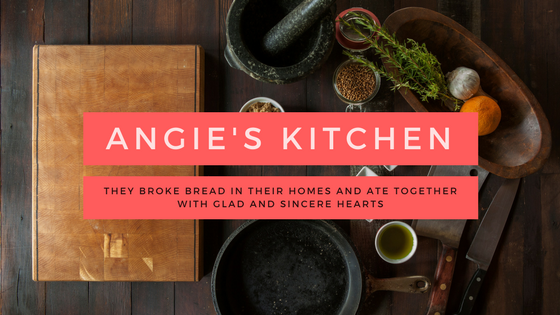 Angie's Kitchen, Week One